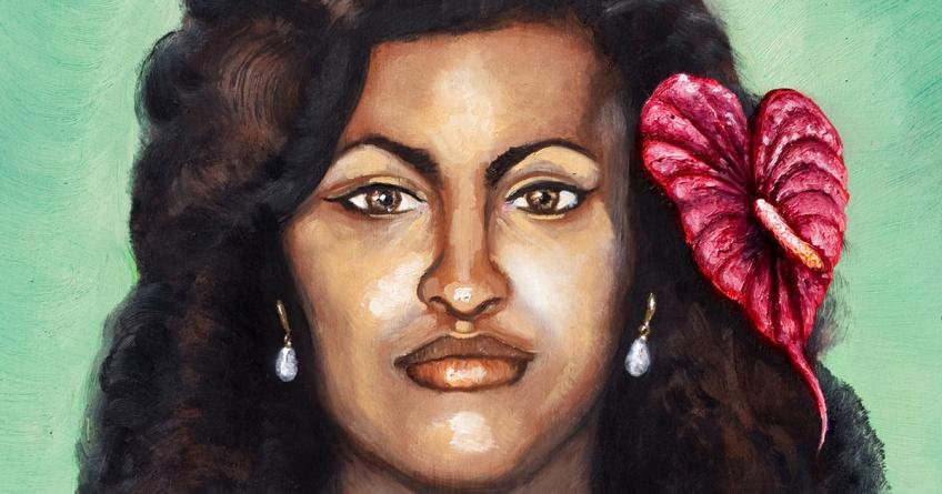 Hawaiian Princess by Mani Price, detail