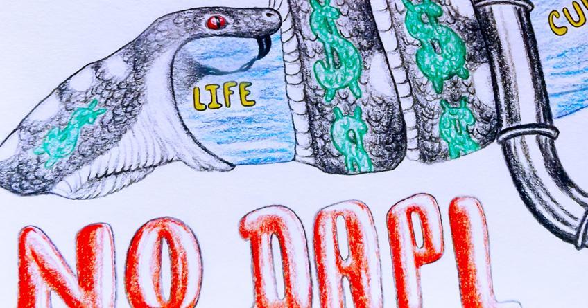 No Black Snake by Hoppow Norris, detail
