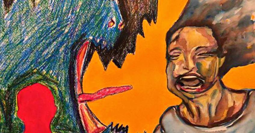 Motherless Fatherless B-side, painting